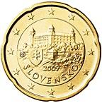 20 cents (other side, country Slovakia) 0.2